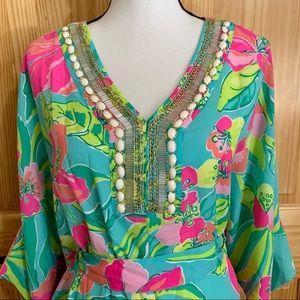 LILLY PULITZER Floral Embellished Shift Dress